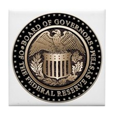 The Federal Reserve Tile Coaster
