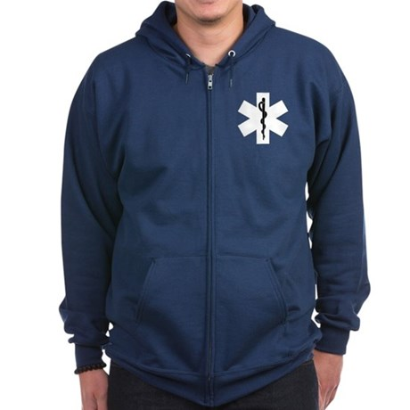 EMS Star of Life Zip Hoodie (dark)