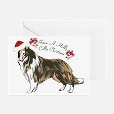 Collie Santa Greeting Cards (Pk of 20)