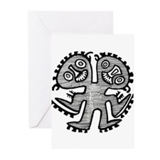 Two Headed Creature Greeting Cards (Pk of 10)