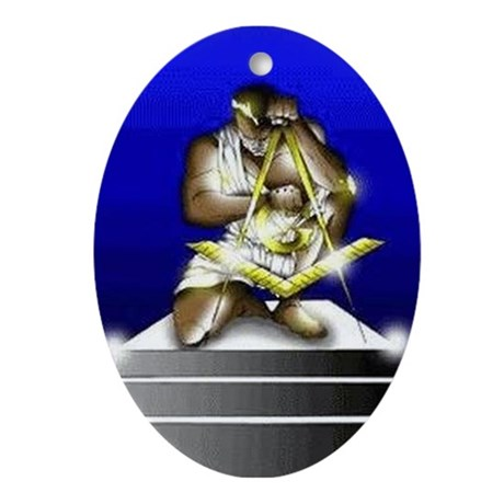 Masonic Giant Oval Ornament