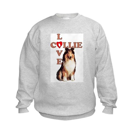Collie Love 2 Kids Sweatshirt