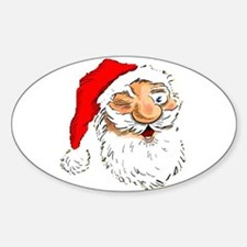 Santa Claus Oval Decal