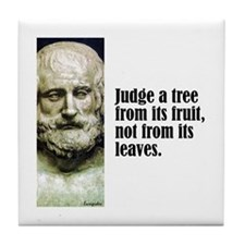 "Euripides ""Judge"" Tile Coaster"