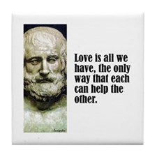 "Euripides ""Love"" Tile Coaster"