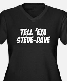Steve-Dave Women's Plus Size V-Neck Dark T-Shirt