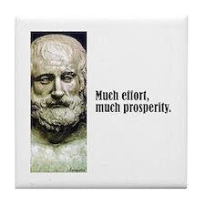 "Euripides ""Much Effort"" Tile Coaster"