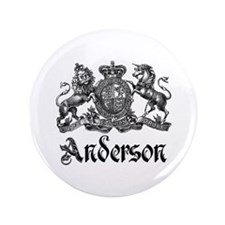 "Anderson Vintage Crest Family Name 3.5"" Button"