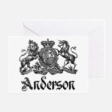 Anderson Vintage Crest Family Name Greeting Card
