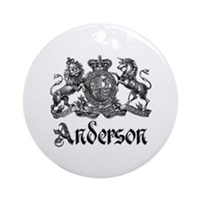 Anderson Vintage Crest Family Name Ornament (Round