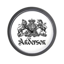 Anderson Vintage Crest Family Name Wall Clock