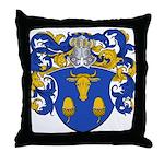Blau Family Crest Throw Pillow