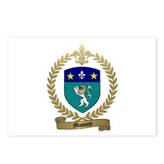 MASSARD Family Crest Postcards (Package of 8)