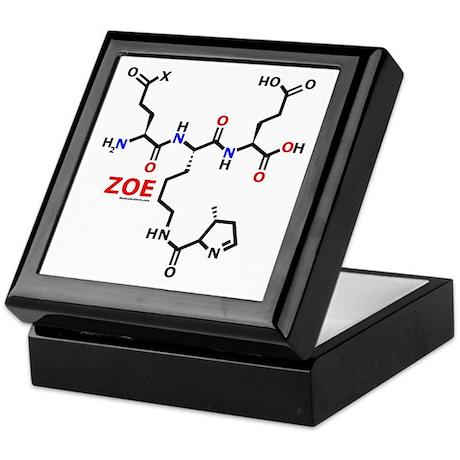 Zoe name molecule Keepsake Box
