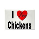 I Love Chickens Rectangle Magnet (10 pack)