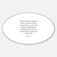 JOHN 12:13 Oval Decal