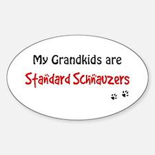 Schnauzer Grandkids Oval Decal