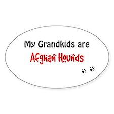 Afghan Grandkids Oval Decal