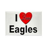 I Love Eagles Rectangle Magnet (10 pack)