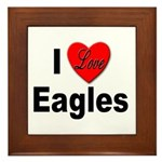 I Love Eagles Framed Tile