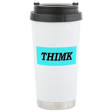 """Thimk"" Stainless Steel Travel Mug"