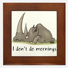 Lazy Rhino Framed Tile