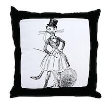 Cat Equestrian Throw Pillow
