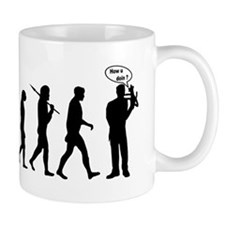 Ventriloquist talking monkey Mug