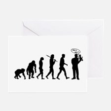 Ventriloquist talking monkey Greeting Cards (Pk of