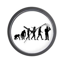Ventriloquist talking monkey Wall Clock