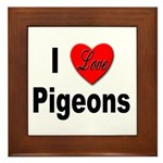 I Love Pigeons Framed Tile
