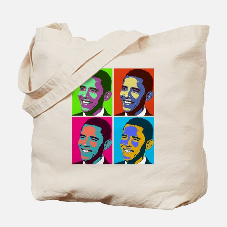 obama warhol Tote Bag