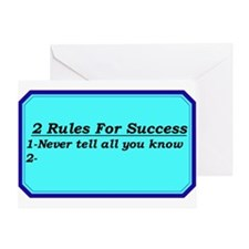 """""""2 Rules For Success"""" Greeting Card"""
