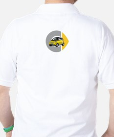 What's Your Color? Yellow Smart Car Golf Shirt