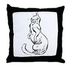 Comfy Kitty Throw Pillow