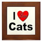 I Love Cats Framed Tile