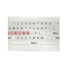 Aikido Keyboard Rectangle Magnet