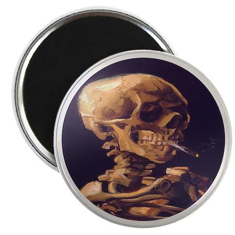 "Skull with Cigarette 2.25"" Magnet (100 pack)"