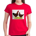 Red Broiler Chickens 2 Women's Dark T-Shirt