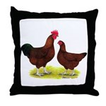Red Broiler Chickens 2 Throw Pillow