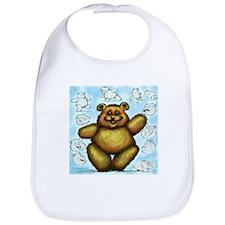 Unique Fuzzy bear Bib