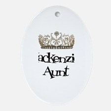 Mackenzie's Aunt Oval Ornament