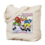 Where the Deer & the Antelope Play Hockey Tote Bag