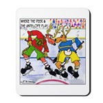 Where the Deer & the Antelope Play Hockey Mousepad