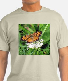 Heath Fritillary Butterfly Ash Grey T-Shirt