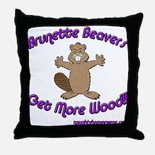 Brunette Beavers Get More Woo Throw Pillow