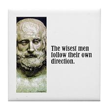 """Euripides """"Wisest Men"""" Tile Coaster"""