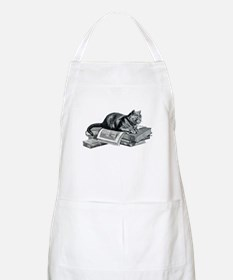 Cat with Books BBQ Apron