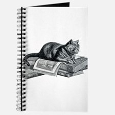 Cat with Books Journal