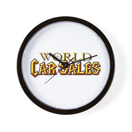 World of Car Sales Wall Clock